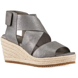 Eileen Fisher Willow Starry Suede Wedge Espadrille
